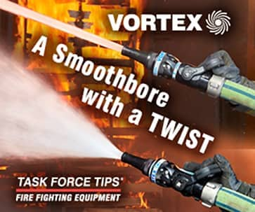 Vortex nozzles being used